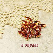 Материалы для творчества handmade. Livemaster - original item Glass rhinestones 10h5 mm Hyacinth in gold and silver frames. Handmade.