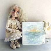 Куклы и игрушки ручной работы. Ярмарка Мастеров - ручная работа Вета - Мечты о море...Текстильная куколка. Handmade.
