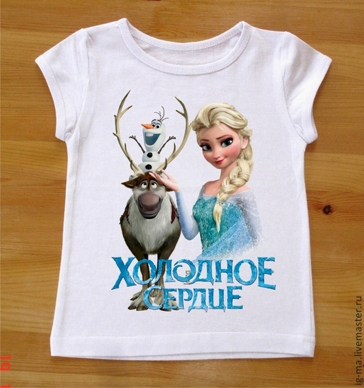 """Одежда для девочек, ручной работы. Ярмарка Мастеров - ручная работа. Купить футболка """"Холодное сердце"""". Handmade. Белый, футболка"""