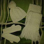 """Одежда ручной работы. Ярмарка Мастеров - ручная работа Комплект для зимы """"Снежок"""". Handmade."""