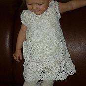 Работы для детей, handmade. Livemaster - original item Cotton dress for girls jewel. Handmade.