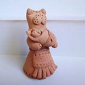 Для дома и интерьера ручной работы. Ярмарка Мастеров - ручная работа Статуэтка кошка, керамическая фигурка, кошка игрушка. Handmade.