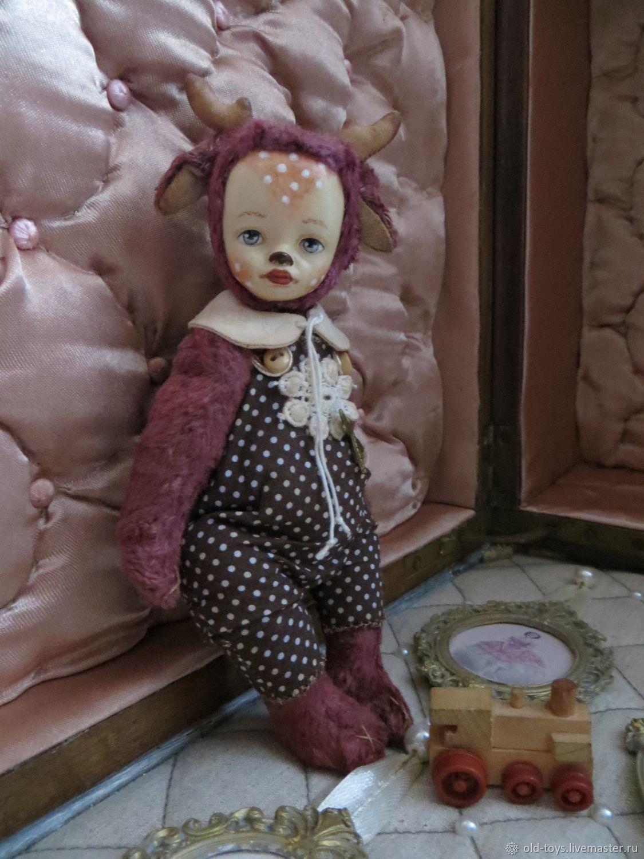 Малыш Оленёнок тедди-долл, 15см, Миниатюрные игрушки, Чебоксары, Фото №1