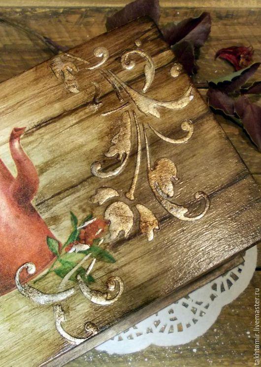 """Кухня ручной работы. Ярмарка Мастеров - ручная работа. Купить Короб для чая  """"В лучших традициях"""". Handmade. Коричневый, кантри"""