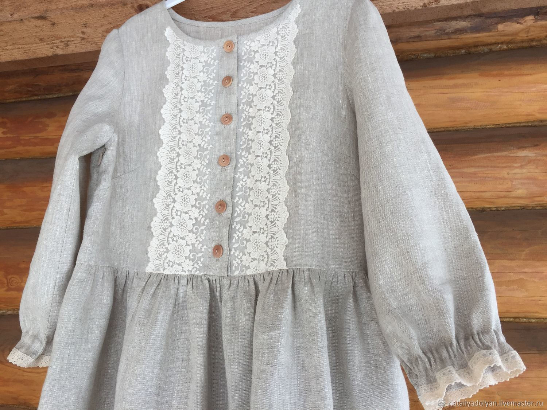 Linen dress 'Natural style' p. .42-46, Dresses, Ivanovo,  Фото №1