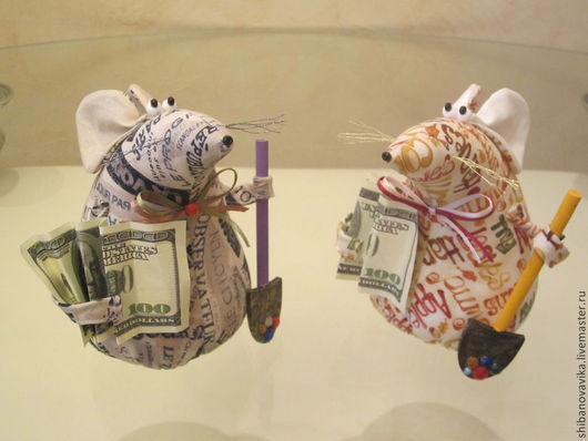 Игрушки животные, ручной работы. Денежные крысы. Автор Шибанова Виктория. Дизайн-студия авторских игрушек `SamiSrukami`. Ярмарка мастеров.