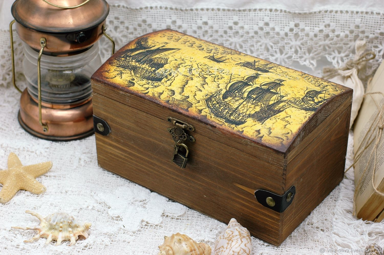 Sea pirate box-chest for storage, gift, Box, Moscow,  Фото №1