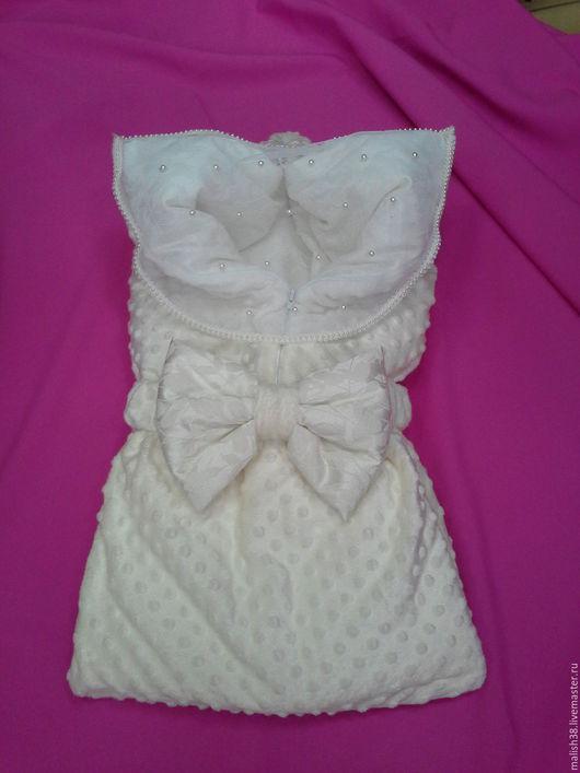 """Для новорожденных, ручной работы. Ярмарка Мастеров - ручная работа. Купить Конверт-одеяло """"Минки"""". Handmade. Комбинированный"""