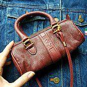Винтаж ручной работы. Ярмарка Мастеров - ручная работа Мини сумочка Pollini винтаж. Handmade.