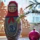 Коллекционные куклы ручной работы. Ярмарка Мастеров - ручная работа. Купить Матрешка текстильная. Handmade. Матрешка, сувенир из россии