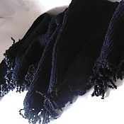 Аксессуары handmade. Livemaster - original item BACCHUS BOSNIAN fringed knitted black autumn winter. Handmade.
