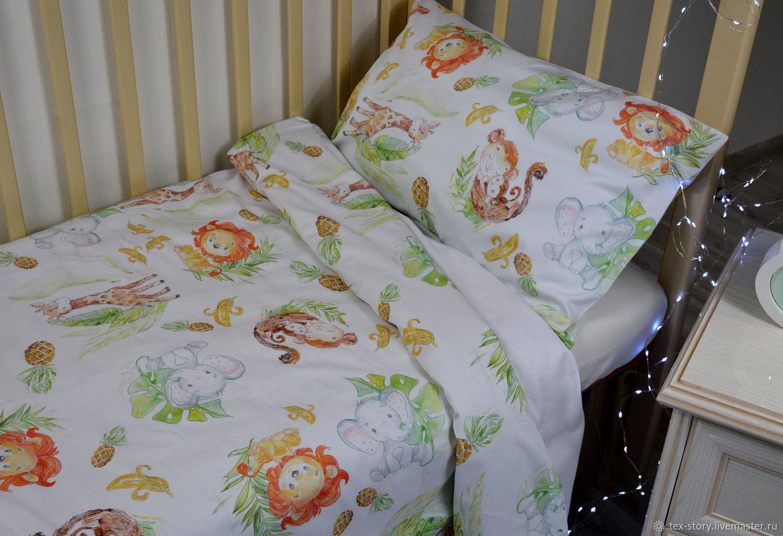 Детский комплект постельного белья Сафари, Текстиль, Зеленоград, Фото №1