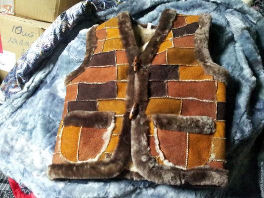 Одежда для девочек, ручной работы. Ярмарка Мастеров - ручная работа. Купить Жилетки из овчины на 6 лет. Handmade. Комбинированный