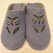 """Обувь ручной работы. Ярмарка Мастеров - ручная работа Валяные тапочки """"Совушки"""". Handmade."""