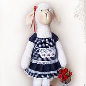 """Куклы и игрушки ручной работы. Ярмарка Мастеров - ручная работа Овечка """"Буду поливать цветы..."""". Handmade."""