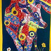 """Картины и панно ручной работы. Ярмарка Мастеров - ручная работа Панно """"Корова"""". Handmade."""