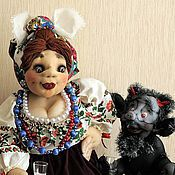 Куклы и игрушки ручной работы. Ярмарка Мастеров - ручная работа Солоха с медовухой.. Handmade.