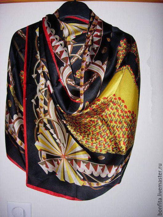 Шарфы и шарфики ручной работы. Ярмарка Мастеров - ручная работа. Купить Шарфик 100% шелк. Handmade. Комбинированный, палантин, шелк