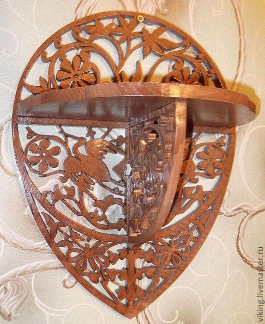 """Мебель ручной работы. Ярмарка Мастеров - ручная работа. Купить Полка круглая """" журавли """" R-670. Handmade."""
