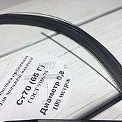 Материалы для творчества handmade. Livemaster - original item Spring wire diameter 0,8 (a coil of 100 meters). Handmade.