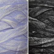 Материалы для творчества ручной работы. Ярмарка Мастеров - ручная работа Бленд: новозеландский сливер с шелком малбери, 50г. Handmade.