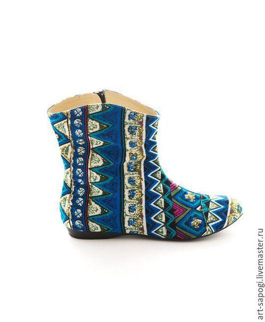 Обувь ручной работы. Ярмарка Мастеров - ручная работа. Купить Летние полусапоги 3-116 (ВЧ). Handmade. Разноцветный