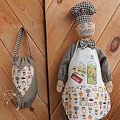 """Для дома и интерьера ручной работы. Ярмарка Мастеров - ручная работа """"Любитель оливок, сеньор Лучиано"""" комплект пакетниц. Handmade."""