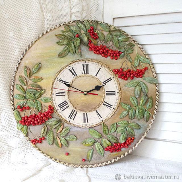 Wall clock 'Rowan' three-dimensional painting, Watch, Ufa,  Фото №1