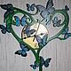 Часы `бабочки` фото со вспышкой