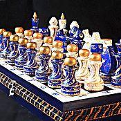 Подарки к праздникам ручной работы. Ярмарка Мастеров - ручная работа шахматы деревянные подарочные  Вечер в Венеции. Handmade.