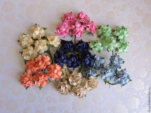 Открытки и скрапбукинг ручной работы. Ярмарка Мастеров - ручная работа. Купить 7 расцветок Розы 2,5 см 1штука. Handmade.