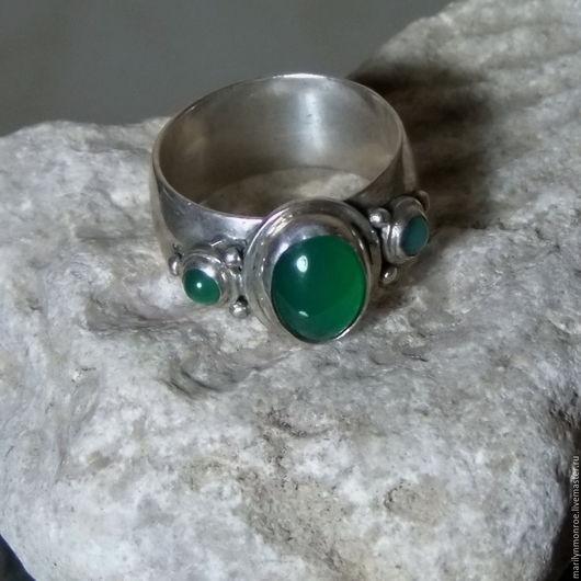 """Кольца ручной работы. Ярмарка Мастеров - ручная работа. Купить Кольцо с хризопразом """" Полынь"""". Handmade. Зеленый, натуральные камни"""