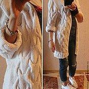 Одежда ручной работы. Ярмарка Мастеров - ручная работа Вязаный кардиган из хлопка. Handmade.