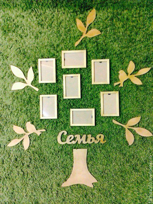Интерьерные слова ручной работы. Ярмарка Мастеров - ручная работа. Купить Семейное дерево для фотографий. Handmade. Комбинированный, фотокомпозиция