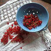 Посуда ручной работы. Ярмарка Мастеров - ручная работа Berry Bowl Летнее небо. Handmade.