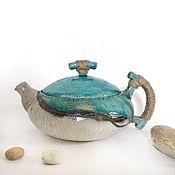 """Посуда ручной работы. Ярмарка Мастеров - ручная работа Чайник """"Волна на песке"""". Handmade."""