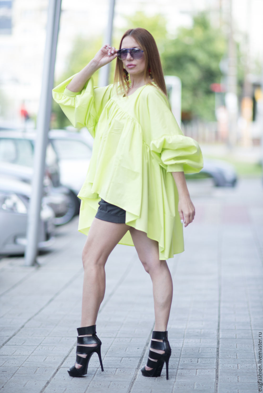 Tunic, cotton Tunic, Summer tunic, Tunic sleeve, Asymmetrical tunic, Clothing EUG