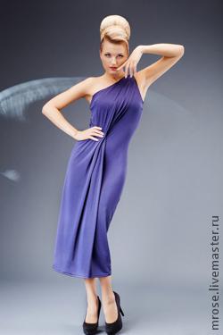 """Платья ручной работы. Ярмарка Мастеров - ручная работа. Купить Платье """"Афродита"""". Handmade. Тёмно-синий, Коктейльное платье"""