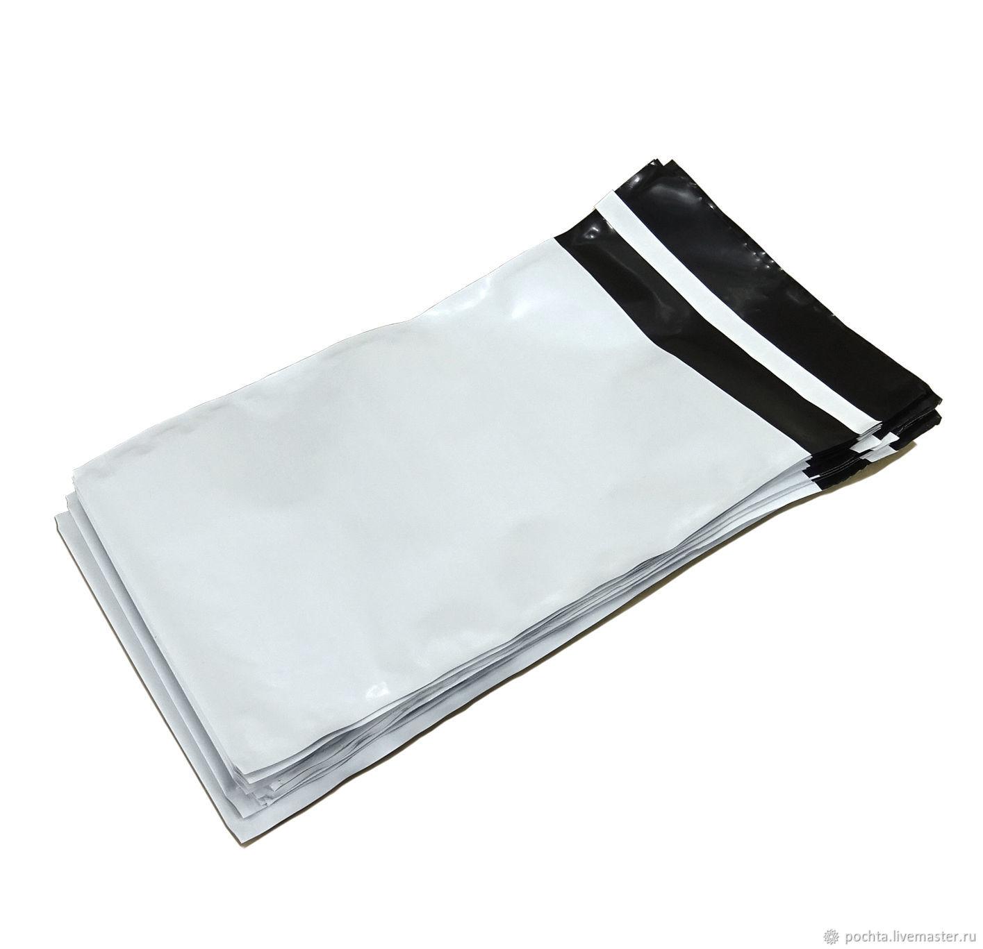 Белые курьер пакеты без кармана 150х210 . Плотность 50 мкм, Пакеты, Москва,  Фото №1