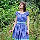 """Платья ручной работы. Ярмарка Мастеров - ручная работа. Купить Платье """"Летняя ночь"""" короткое. Handmade. Платье, Синее платье"""