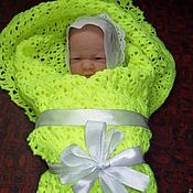 Для дома и интерьера ручной работы. Ярмарка Мастеров - ручная работа Покрывало / плед  для новорожденного. Handmade.