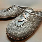 """Обувь ручной работы. Ярмарка Мастеров - ручная работа Тапки валяные домашние """"Мужской стиль"""". Handmade."""