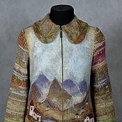 """Одежда ручной работы. Ярмарка Мастеров - ручная работа Жакет валяный """"Утро в горах"""". Handmade."""