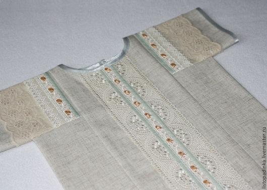 `Царевич` - крестильная рубашка, лён с вискозой