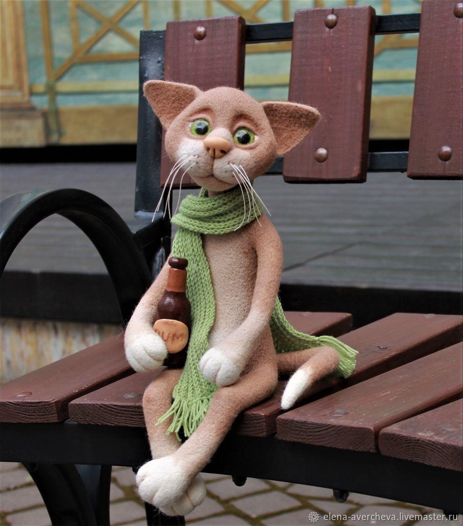 Кот Филимон (питерские коты), Войлочная игрушка, Санкт-Петербург,  Фото №1