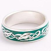 Украшения handmade. Livemaster - original item Ring with foliage and enamel. Handmade.