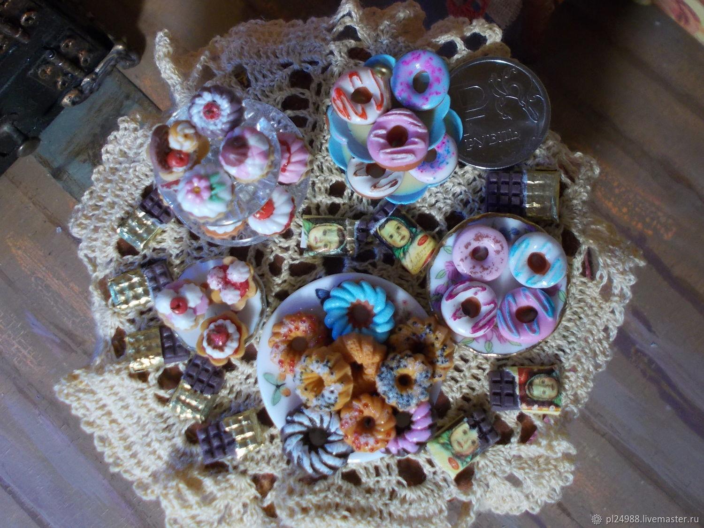 Кукольная миниатюра, еда для кукол, выпечка, сладости, шоколад 1:12, Кукольная еда, Псков,  Фото №1