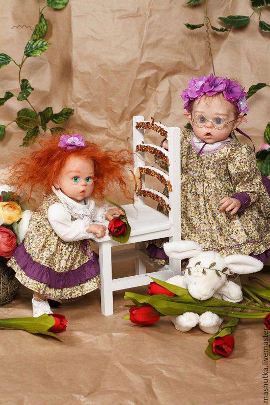 Куклы-младенцы и reborn ручной работы. Ярмарка Мастеров - ручная работа. Купить Две сестры. Эльфы Офелии. Handmade. Комбинированный