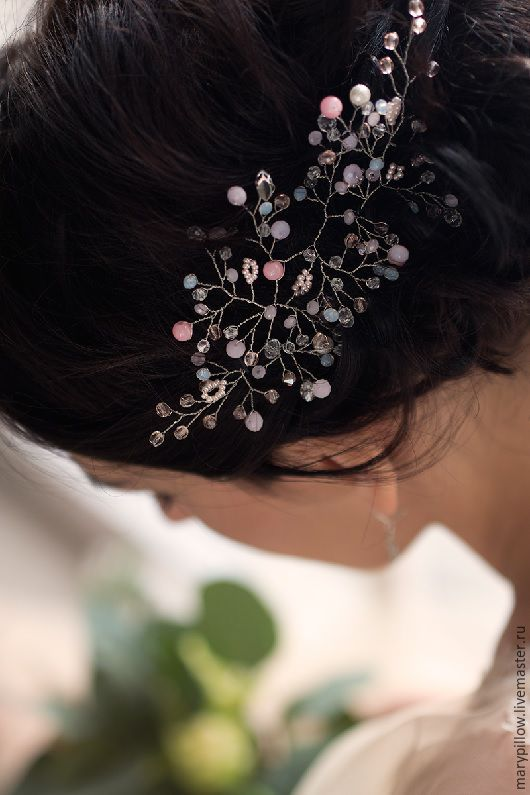 Свадебная веточка в пудрово розовом цвете, розовый кварц Pantone  Нежная веточка в популярном оттенке этого свадебного сезона.
