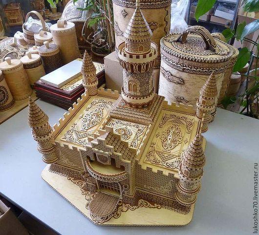Подарочные наборы ручной работы. Ярмарка Мастеров - ручная работа. Купить Замок из бересты сувенирный. Handmade. Изделия из бересты